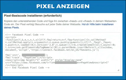 Facebook Sales Funnel - FB Pixel Anzeigen