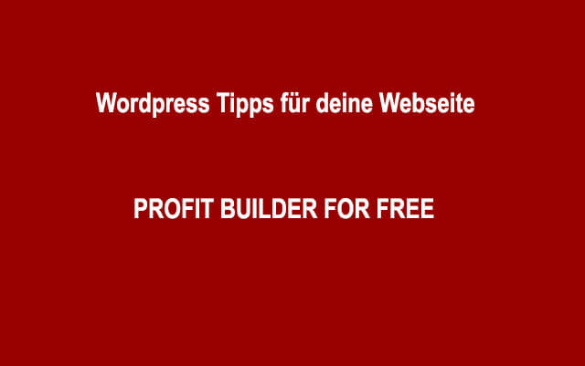 Profit Builder For Free